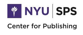 NYU Center for Publishing