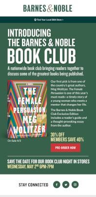 B N Starts Nationwide Book Club