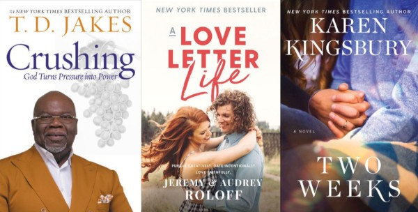 April Religion Bestsellers: T D  Jakes 'Crushes' #2, The Baxters Return