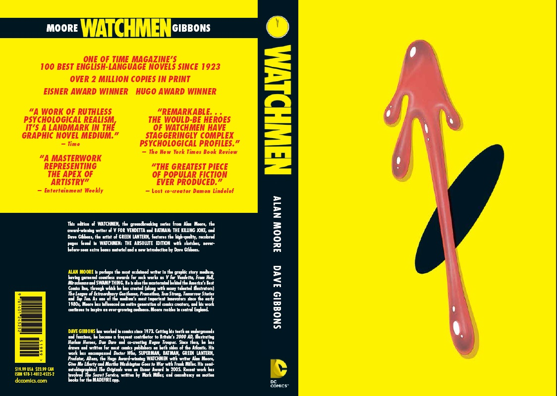 Calendar Cover Design 2014 : Dc releases new 'watchmen paperback with cover