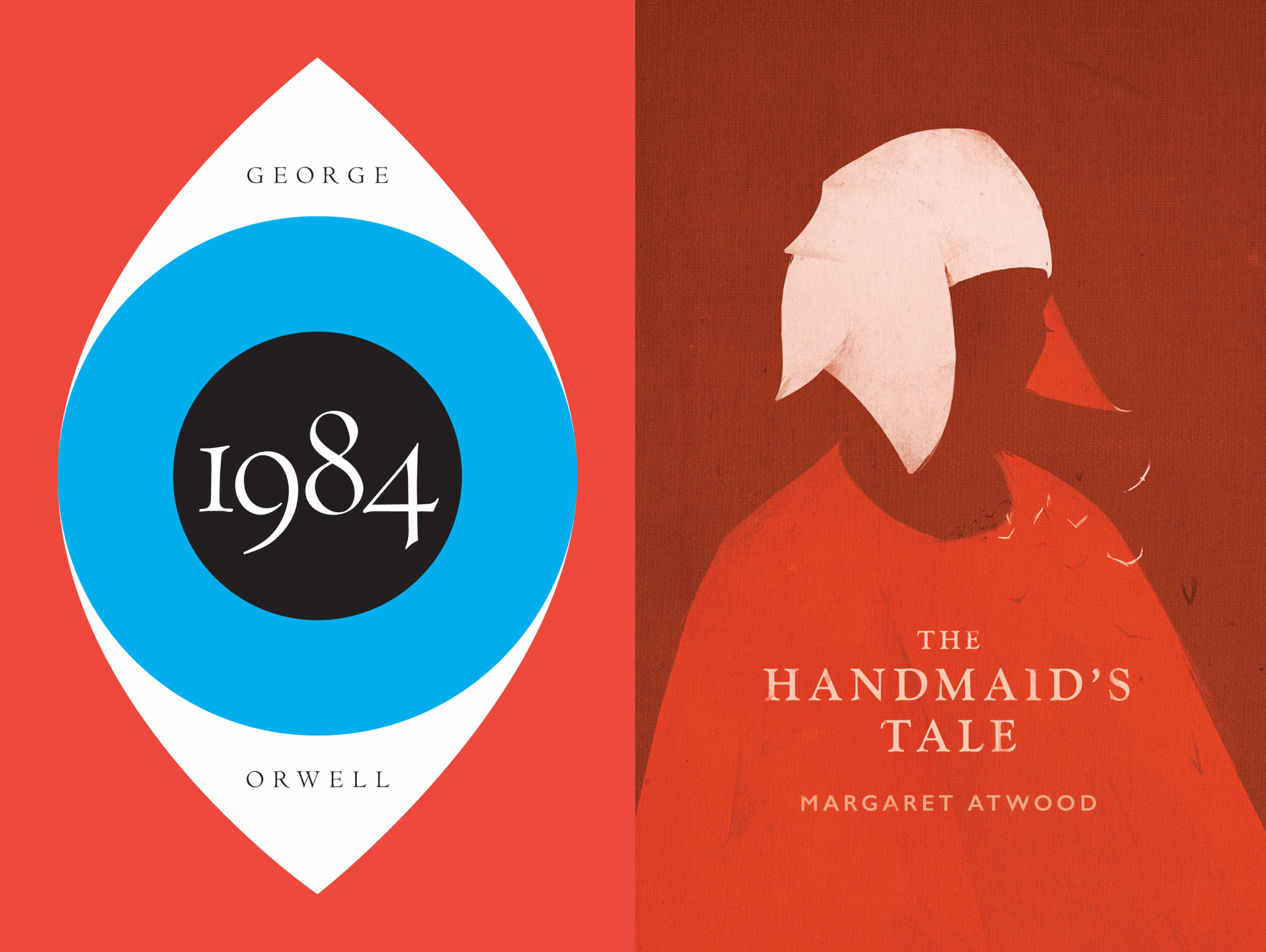 1984 handmaids tale essay A comparison of the social and political institution attacks in the dystopian fiction 1984 and the handmaids tale pages 2 words 1,097 view full essay both margaret attwood's the handmaids tale and george orwell's 1984 are dystopian novels, the genre dystopia has been described as speculative fiction due.