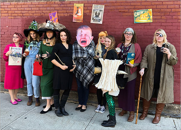 The Candlewick Crew As Harry Potter Characters From L Amanda Bellamy Dolores Umbridge Christine Engels Professor Sprout Matt Roeser