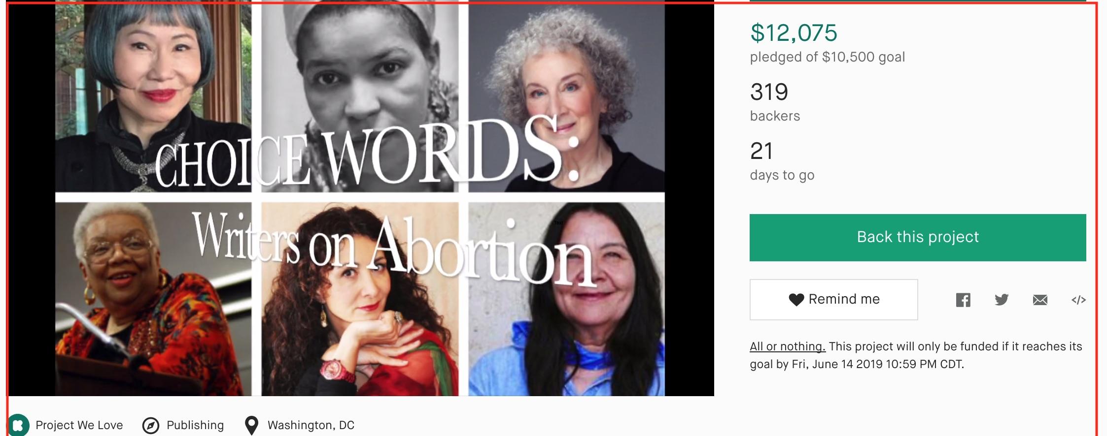 Kickstarter Campaign for Book on Abortion Surpasses Goal