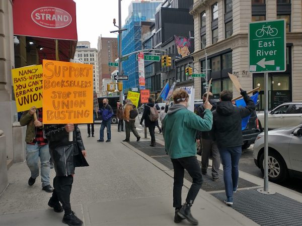 Union Booksellers Protest at NYC's Strand